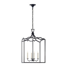 E.F. Chapman Darlana 4-Light Foyer Pendant, Aged Iron