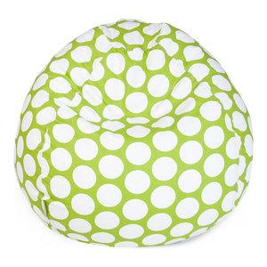 Indoor Hot Green Large Polka Dot Small Bean Bag