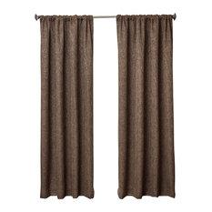 "Bellville Rod Pocket Curtains, Espresso, 96"""