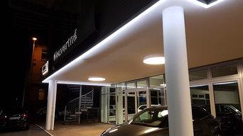 Autohaus Beleuchtung