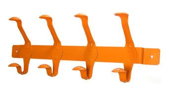 SmartHook ColorZ Garment Friendly Powder Coated Hook Rail, Tangerine Orange