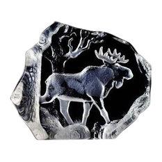 Bull Moose Crystal Sculpture