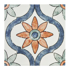 """SomerTile 7.75""""x7.75"""" Bourges Ceramic Wall Tile, Arco"""