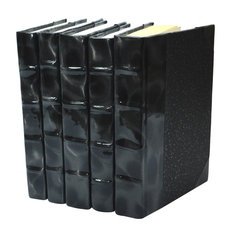Prismatic Patent Books, Black and Silver, Set of 5