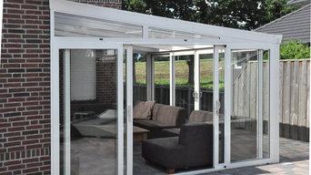 Gartenzimmer mit Doppeltür/Schiebetür oder Glassschiebewänden
