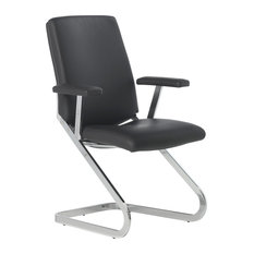 Sitia - Black Mid-Back Office Chair Without Wheels - Office Chairs  sc 1 st  Houzz & Without Wheels Office Chairs | Houzz