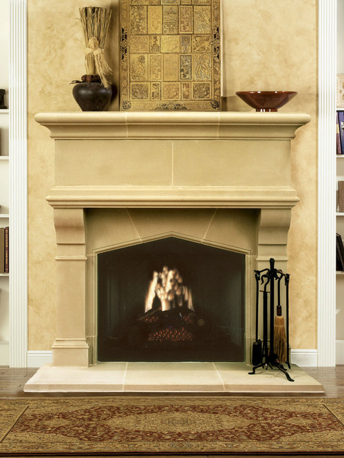Gatwick Cast Stone Fireplace Mantel - Indoor Fireplaces - Cast Stone Fireplace Mantels