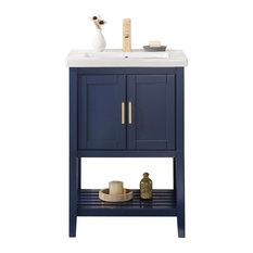 """Colby Single-Sink Vanity, Blue, 24"""""""