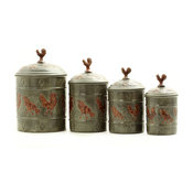 4 Pc. Rooster Canister Set