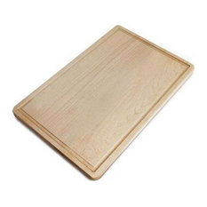 Delice Rectangle Cutting Board With Groove, Natural Maple, Rectangle