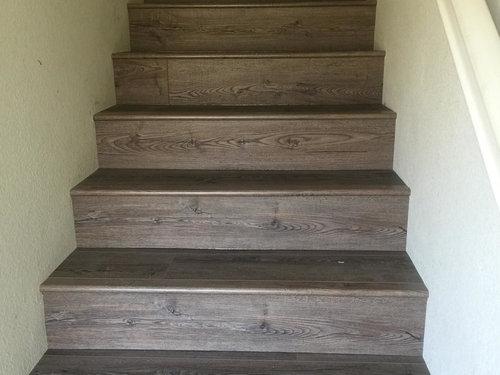 New Luxury Vinyl Plank Stairs