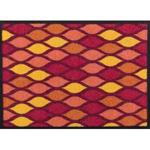 Easy Clean Loops Doormat, Red, Small