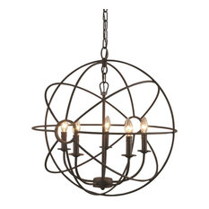 Yosemite Home Decor Shooting Star 5-Light Mini Chandelier in Rustic