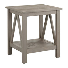 linon home decor products titian rustic gray end table 20w x 177d x 22h
