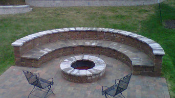 Glorious patio with firepit
