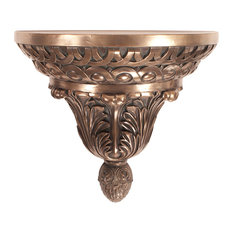 Howard Elliott Ornate Bronze Round Wall Shelf