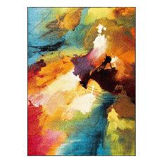 Vida Contemporary Abstract Multi-Color Rectangle Area Rug, 8' x 10'