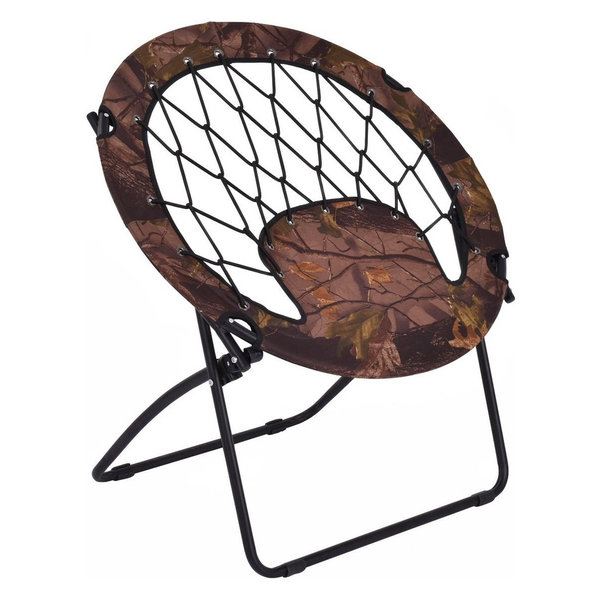 Outdoor Camping Folding Round Bungee Chair, Army Uniform