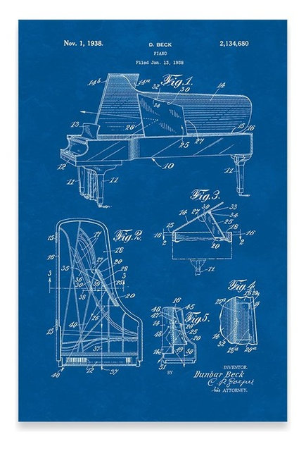 Steinway piano poster patent art print industrial prints and steinway piano poster patent art print blueprint malvernweather Image collections