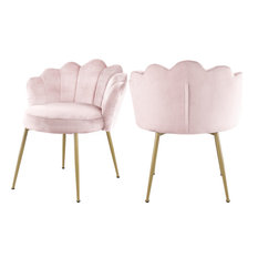 Claire Velvet Dining Chair, Set of 2, Pink