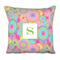 Square Pillow Kyoto Single Initial, Letter A