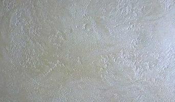 Intonaco decorativo con intonachino, marmorino e cere perlescenti