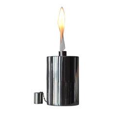 """7"""" Polished Manhattan Floor Torch"""