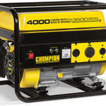 Champion Power Equipment - Champion 3500-Watt RV Ready Portable Generator (CARB) - The Champion Power Equipment 46533 RV Ready 3500-Watt Portable Generator is designed with your safety and convenience in mind. For your RV, you'll have enough power to start and run a 15,000 BTU RV air conditioner. The next time there's an outage, the 196cc Champion single-cylinder OHV engine will provide the power you need to back up your home essentials.