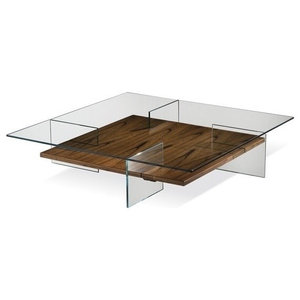 Strange Modrest Makai Modern Walnut And Black Square Coffee Table Caraccident5 Cool Chair Designs And Ideas Caraccident5Info