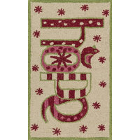 "Loloi Skylar 2'3""x3'9"" Wool Rug, Ivory and Red"