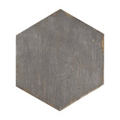 "14.13""x16.25"" Lambris Hex Porcelain Floor/Wall Tiles, Set of 9, Gray"