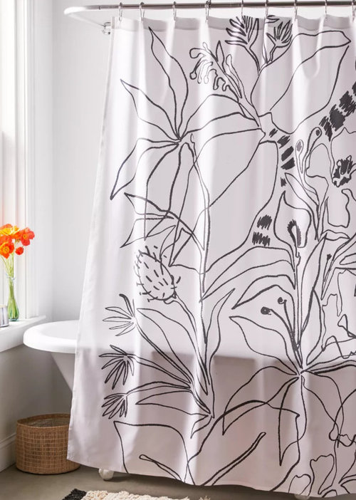 New Shower Curtain What Color To Match, What Color Goes With Gray Shower Curtain