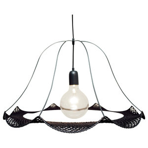 Christine Hechinger Crochet Hanging Lamp, Black