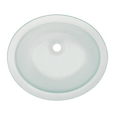 MR Direct Sinks And Faucets   UGM Undermount Glass Bathroom Sink, Frosted    Bathroom Sinks