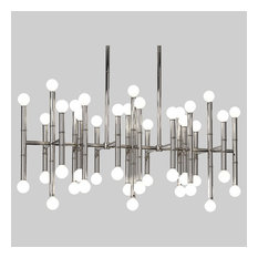 Jonathan Adler Meurice 42-Light Chandelier, Polished Nickel Finish
