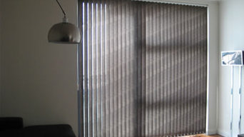 Vertical blind in Docklands apartment
