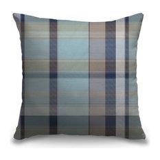 """""""Light Blue Madras Plaid"""" Pillow 16""""x16"""""""