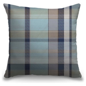 Pillow Perfect Check Please Lakeland Floor Pillow 25-inch Blue