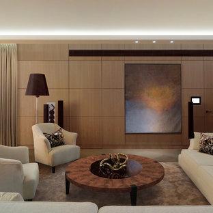 Создайте стильный интерьер: гостиная комната в современном стиле с коричневыми стенами - последний тренд