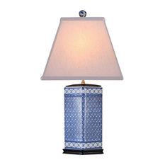 East Enterprises INc   Kaleidoscope Porcelain Table Lamp, Blue And White   Table  Lamps