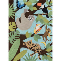 Momeni Lil Mo Classic Cotton Hand Hooked Multi Area Rug 5'x5' Round