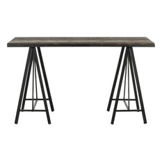 Safavieh Troy Console Table Dark Brown