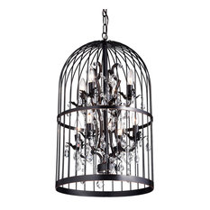 Bird chandeliers houzz 1st avenue carlo oil rubbed 8 light bird cage crystal chandelier chandeliers aloadofball Gallery