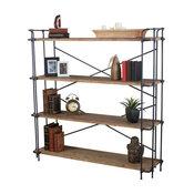 Mercia Industrial 4 Shelf Firwood Bookcase