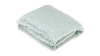 Luxury Mohair Throw Blanket Green Mist