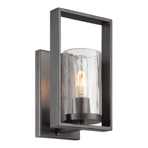 Elements Wall Sconce, Charcoal