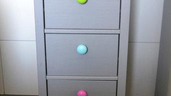 Individuelle bunte Holz Möbelknöpfe in über 50 Farben