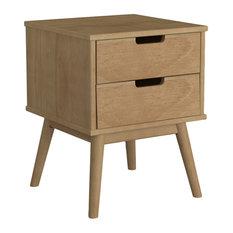Pine 2-Drawer Nightstand