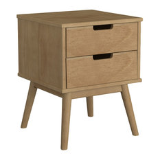 TOP AMBIENTES - Pine 2-Drawer Nightstand - Nightstands and Bedside Tables