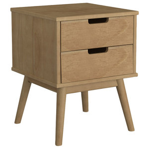 Pine 2-Drawer Nightstand